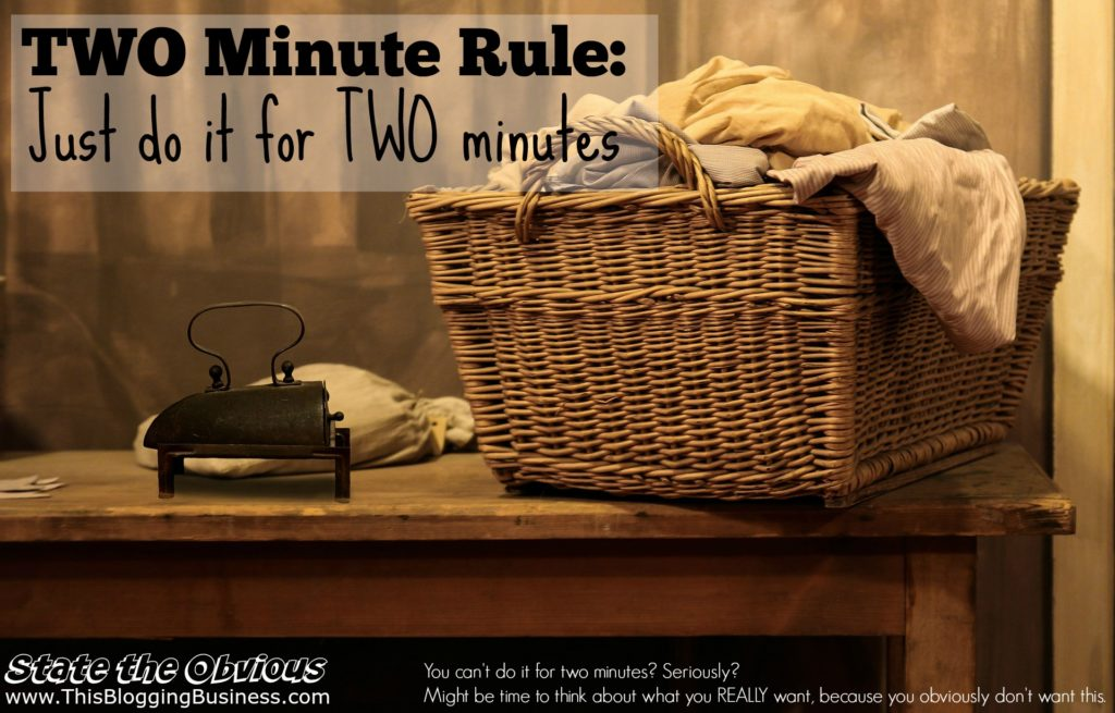 Two minute rule - two minutes, that's all it takes. Just two minutes of doing the task that you've been putting off because of lack of motivation. Here's how...