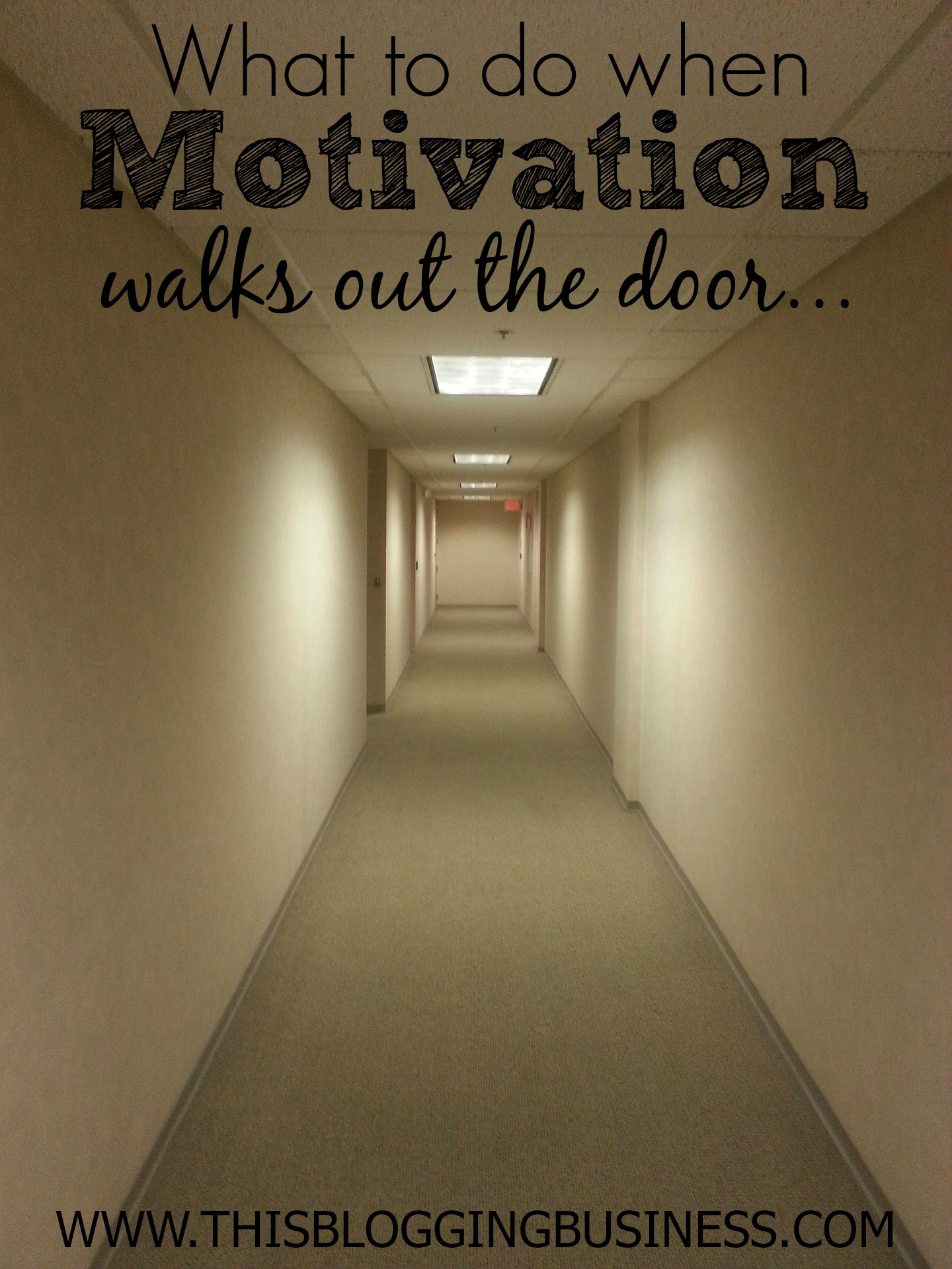 Motivation walks out the door - what to do when you just can't seem to make yourself do the things that you know you should... those things that move you closer to your goals. Here's one little trick I use to get myself to do those tasks which I seem to be always putting off.