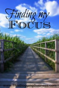 Finding my focus - I share about the importance of finding the focus of your blog (and your blog posts) before begin. What are the challenges you face? Identifying them is half the journery...  #10DBC #freedomplan
