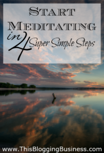 4 Super Simple Steps to get started with meditation - meditation doesn't need to be hard (and it isn't) so just follow these really easy steps to get you started on a meditation practice. Don't overthink it, just get started.