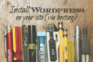 This is the last post in our series on starting your own personal development blog. We go through the steps on installing wordpress on your site.